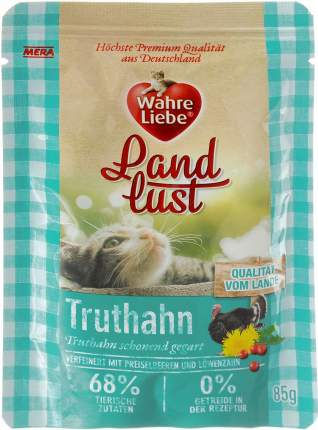 "Влажный корм для кошек Wahre Liebe ""Landlust ""Truthahn"" с индейкой, 85г"