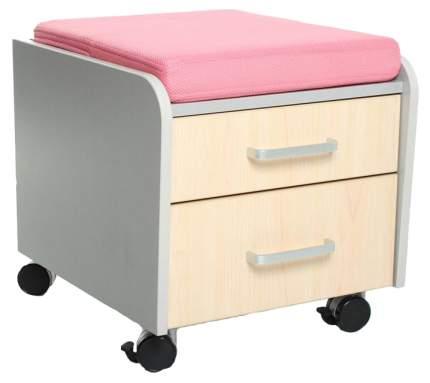 Тумбочка Comf-Pro BD-C2 (цвет обивки: розовый, цвет каркаса: серый, цвет товара: клен)