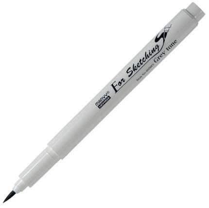 Скетч-маркер, кисть, пигментные чернила на водной основе N,Grey 4 MAR4600FS/GS4