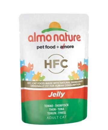 Влажный корм для кошек Almo Nature HFC Jelly, тунец, 55г
