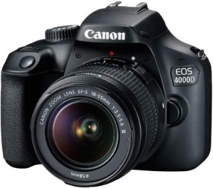 Зеркальный фотоаппарат Canon EOS 4000D EF-S 18-55 III+сумка+SD16GB (Travel Kit Black)