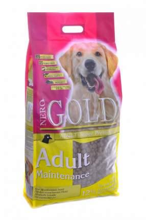 Сухой корм для собак NERO GOLD Adult Maintenance, все породы, контроль веса, курица, 12кг