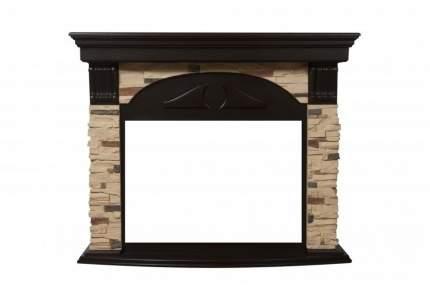 Портал из камня для камина Electrolux Torre Classic Сланец натуральный/Темный дуб