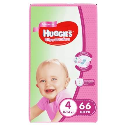 Подгузники Huggies Ultra Comfort для девочек 4 (8-14 кг), 66 шт.
