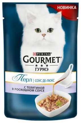 Влажный Корм для кошек Gourmet Perle Соус де-Люкс, телятина, 85 г
