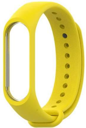 Сменный ремешок для Хiaomi Mi Band 3/4 Silicon Yellow