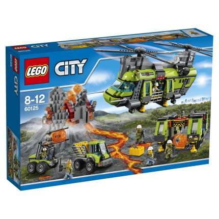Конструктор LEGO City Volcano Explorers Тяжёлый транспортный вертолёт Вулкан (60125)