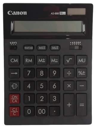 Калькулятор Canon AS-888 BK Черный