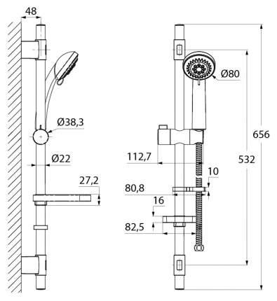 Душевые гарнитуры IDDIS TSH1501