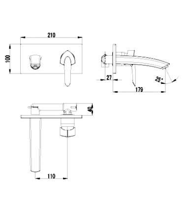Смеситель для встраиваемой системы LEMARK Mars LM3526C серебристый