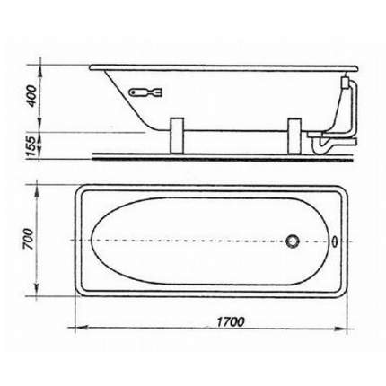 Стальная ванна ВИЗ Antika 170х70 без гидромассажа