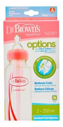 Детская бутылочка Dr. Brown's Options стандартная розовая 250 мл 2 шт.