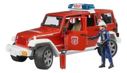 Внедорожник Bruder Jeep Wrangler Unlimited Rubicon Пожарная с фигуркой