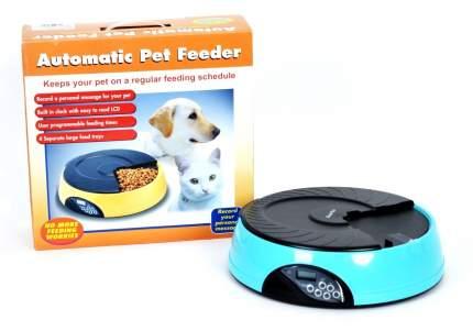 Автокормушка для кошек и собак Feed-Ex, жк дисплей, с таймером, голубая, 2 л