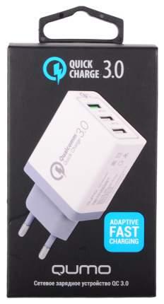 Сетевое зарядное устройство Qumo Quick Charge 3 USB 2,1A White