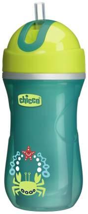 Чашка-поильник Chicco Sport Cup с трубочкой, 266 мл, Зеленый