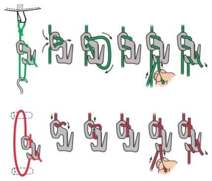 Крепеж для натяжения палатки с веревкой Nite Ize Figure 9 Tent Line Kit F9T4-03-01