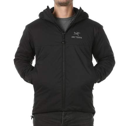 Спортивная куртка мужская Arcteryx Atom AR Hoody, black, XXL