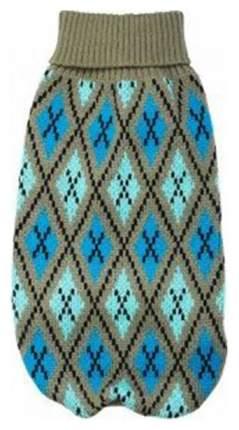 Свитер для собак Уют размер XXL унисекс, серый, голубой, длина спины 45 см
