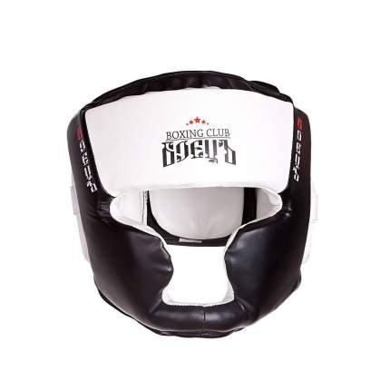 Шлем боксерский BHG-23 Чёрный/Белый, размер XS