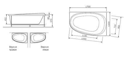 Акриловая ванна Am.Pm Like W80A-170R110W-A