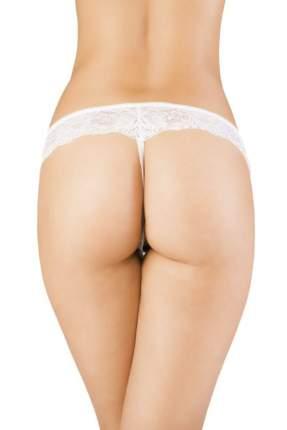 Эротические трусики-стринги с открытой зоной бикини, белые, S/M
