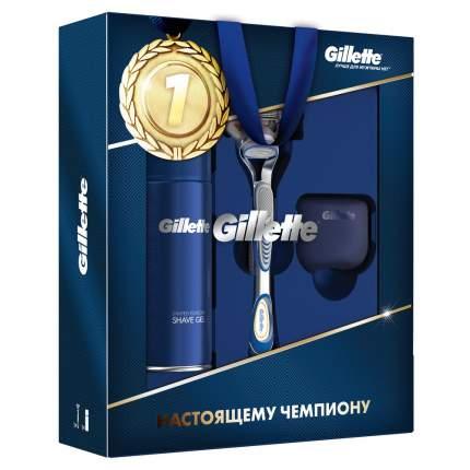 Подарочный набор Gillette Бритва Fusion5+Sensitive Гель д/бритья 75мл+Дорожный чехол