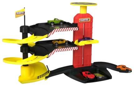 Многоуровневая парковка-трек Halsall Toys Internationals с 5-ю машинками