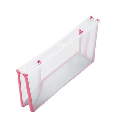 Ванночка с горкой Stokke Flexi Bath Bundle, Tub with Newborn Support Transparent Pink