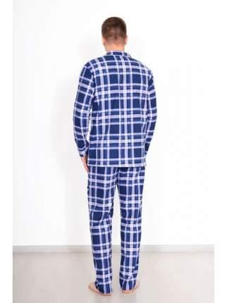 Мужская пижама из фланели LikaDress 6266 синяя, р.62