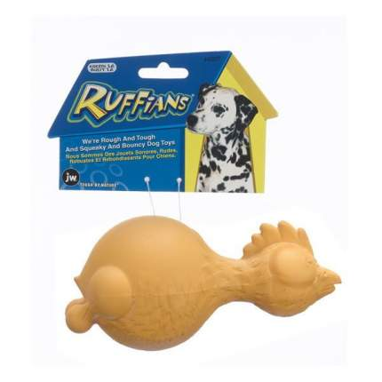 Игрушка JW Pet Ruffians Chicken Курица с пищалкой для собак