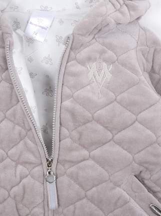 Куртка детская Мамуляндия 19-506, Велюр, Св серый р. 74