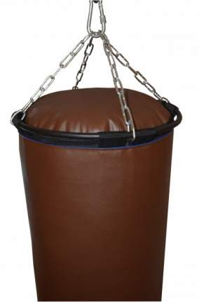 Боксерский мешок РОККИ иск. кожа 120х40 см коричневый 50 кг