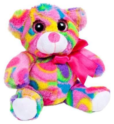 Мягкая игрушка ABtoys Медведь мультиколор, 15 см