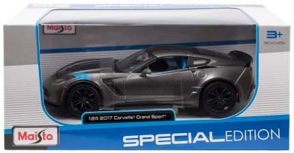 Машинка Maisto серая - Chevrolet Corvette Grand Sport 2014г 1:24