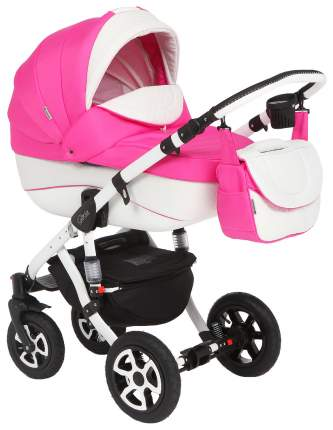 Коляска 3 в 1 Adamex Gloria Eco White Pink 820S