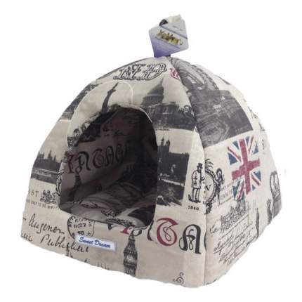 Домик для собак БОБРОВЫЙ ДВОРИК Сладкий сон №2 Лондон 42х42х38 см