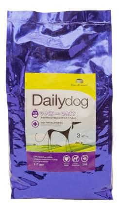 Сухой корм для собак Dailydog Adult Medium-Large Breed, утка и овес, 3кг