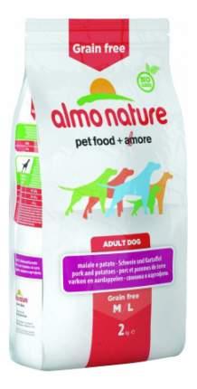 Сухой корм для собак Almo Nature Holistic M-L, картофель, свинина, 12кг