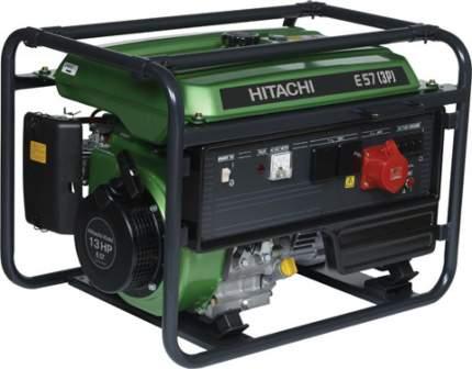 Бензиновый генератор Hitachi E57 3P 3-х фазный зеленый/черный