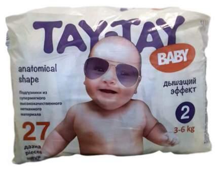 Подгузники для новорожденных TAY-TAY Baby Mini 2 (3-6 кг), 27 шт.