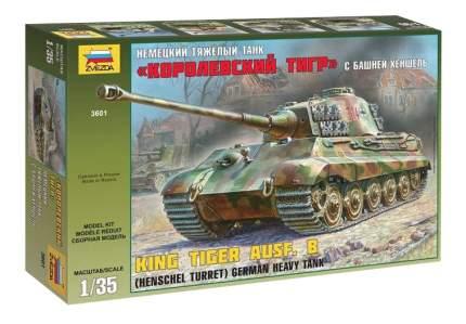 Модель для сборки Zvezda 1:35 Немецкий тяжелый танк Королевский Тигр башня Хеншель