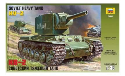 Модель для сборки Zvezda 1:35 Советский тяжелый танк КВ-2
