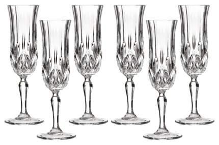 Набор бокалов RCR CRISTALLERIA ITALIANA opera для шампанского 130 мл 6шт