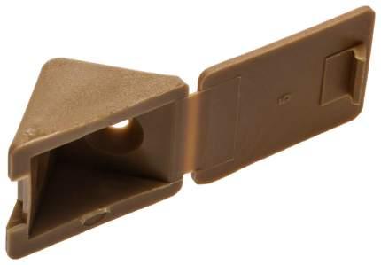 Крепежный угол Зубр с шурупом, бук, 4,0x15мм, ТФ6, 4шт
