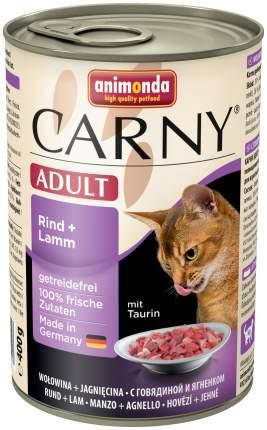 Консервы для кошек Animonda Carny Adult, говядина, ягненок, 400г