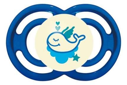 Силиконовая пустышка ортодонтическая MAM Perfect Night кит синяя
