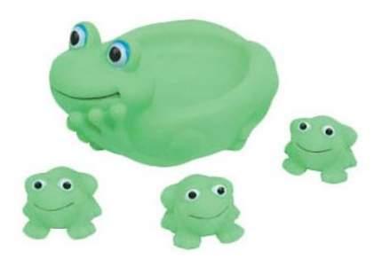 Игрушка для купания Курносики Семейка лягушки