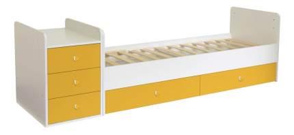 Кровать-трансформер Polini Simple 1100 с комодом, белый-солн,