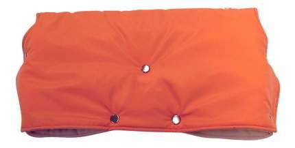 Муфта для рук мамы на детскую коляску Чудо-Чадо Флисовая (кнопки) оранжевый
